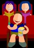 Eating popcorn in cinema Royalty Free Stock Photo