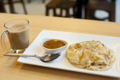 Eating Prata is a great way to start my day. stock photography