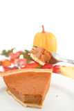 Eating pumpkin pie Royalty Free Stock Images