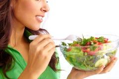 Eating salad Stock Photos
