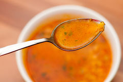 Eating soup Royalty Free Stock Photos