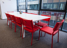 Office room with table and chairs Royalty Free Stock Photography