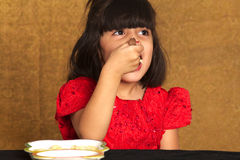 Eating spaghetti Royalty Free Stock Photography