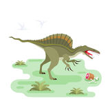 Eating Spinosaurus Royalty Free Stock Images