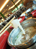 Eating sukiyaki Royalty Free Stock Image