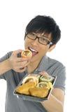 Eating sushi Stock Photo