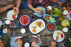 Eating tasty food Royalty Free Stock Photos