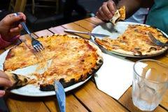 Pizza margherita stock image