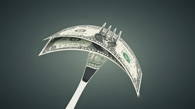 Eating us dollar - concept of business success. Design made in 3D stock illustration