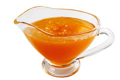 Eating utensil with honey Stock Image