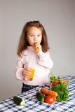 Eating vegetables Stock Photos