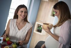 Eating, vitamin is healthy for you and baby royalty free stock photo
