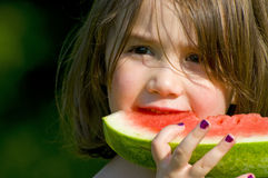 Eating watermelon Royalty Free Stock Photography