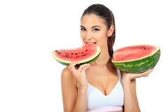 Eating watermelon Royalty Free Stock Photo