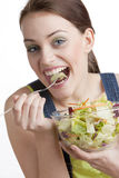 Eating woman Royalty Free Stock Image