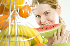 Eating Woman Royalty Free Stock Photography