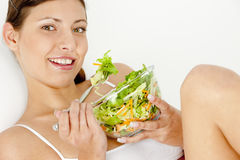 Eating woman Royalty Free Stock Photo