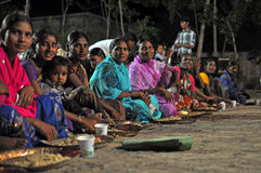 Eating women in India Stock Images