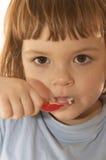 Eating yoghurt Stock Photography