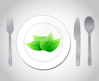 Eating your green food concept illustration design Stock Image