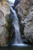 Eaton峡谷瀑布 免版税库存照片