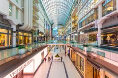Eaton Centre centrum handlowe w Toronto, Kanada Obraz Royalty Free