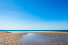 Eau BRITANNIQUE de destination de vacances de paysage marin d'Aberdovey Aberdyfi Pays de Galles Snowdonia la vaste belle coulant  Image libre de droits