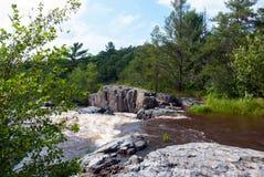 Eau Claire River - Eau Claire County Park, WI, EUA Fotografia de Stock