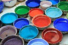 Eau-couleur dans une tasse Photo libre de droits