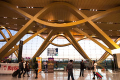 Eau d'aéroport international de Kunming la longue Images libres de droits