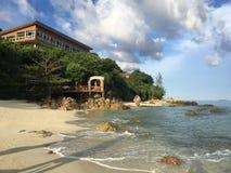 Eau de mer dans le lipe du thailland Images libres de droits