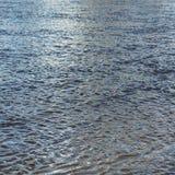 Eau de mer de bleu de texture Photographie stock libre de droits