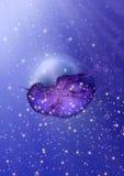 eau de mer profonde bleue d'océan de méduses d'aurelia Photos stock