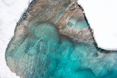 Eau de rivière bleue vue d'en haut photographie stock libre de droits