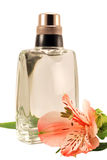 Eau de toilet and an alstroemeria Stock Photos