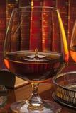 Eau-de-vie fine - cognac - club de Gentlemans Photos libres de droits