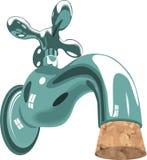 eau du robinet de bassin de tuyauterie de robinet de liège Photos stock