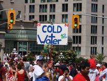 Eau froide le jour du Canada Photos stock