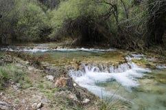 Eau froide, rivière d'hiver Images stock