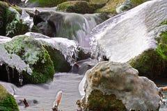 Eau glacée d'hiver Photographie stock