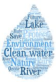 Eau propre - conservation de protection de l'environnement et d'eau Photographie stock