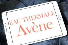 Eau thermale avene cosmetics brand logo. Logo of eau thermale avene cosmetics brand on samsung tablet Royalty Free Stock Photography