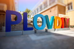 The eauropean cultural capital 2019, Plovdiv Royalty Free Stock Photos