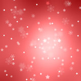 Eautiful blurry red abstract snowflake and stars background Stock Image