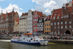 Eautiful cityscape of the Gdansk old town, Poland Royalty Free Stock Image
