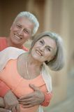 Eautiful elderly couple outdoor Royalty Free Stock Images