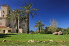 Eautiful garden next to the villa in Cyprus. Stock Images