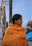 Eautiful Indian girl  at Pushkar fair Royalty Free Stock Photography