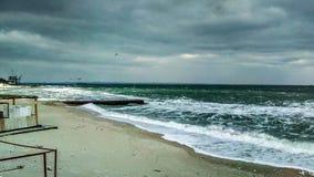Eautiful landscape on the black sea, seagulls stock photos