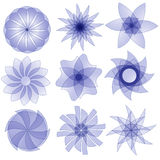 Eautiful lilac ornament collection Stock Photo